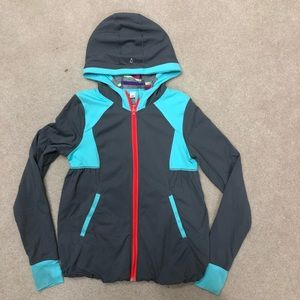 Live To Move Reversible Grey blue zipup jacket